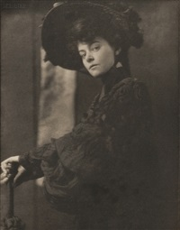 portrait of miss minnie ashley (from camera work 10) by gertrude kasebier