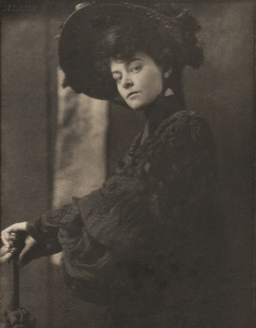 portrait of miss minnie ashley from camera work 10 by gertrude kasebier