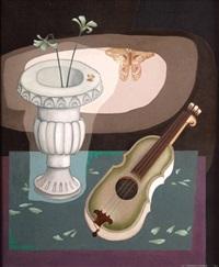 vaso griego y guitarra barroca by agustin cotero ponce