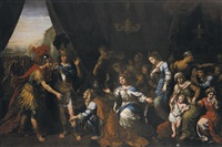the family of darius before alexander the great (collab. w/studio) by pierre mignard the elder