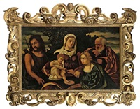 the holy family with saint john the baptist and saint catherine of alexandria by giovanni battista cima da conegliano