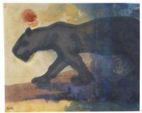 schleichender panther by emil nolde