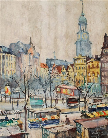 hamburg großneumarkt by hugo volkwarth