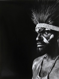 warrior in papua, new guinea by gerald förster