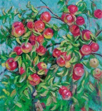 apples on a tree by valentin vasil'ev