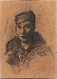 ritratto di signora con cappello by primo conti