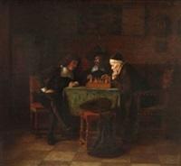 beim schachspiel by simeon buchbinder