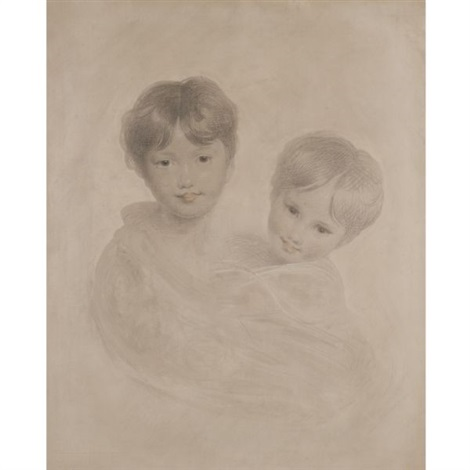 Portrait sketch of two boys George, 3rd marquess Townshend and his