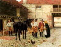 in the stable yard by william barnes wollen