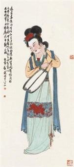 执扇仕女图 by liu bonian