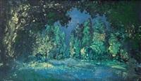 sous bois et rivière by alexei konstantinovich korovin