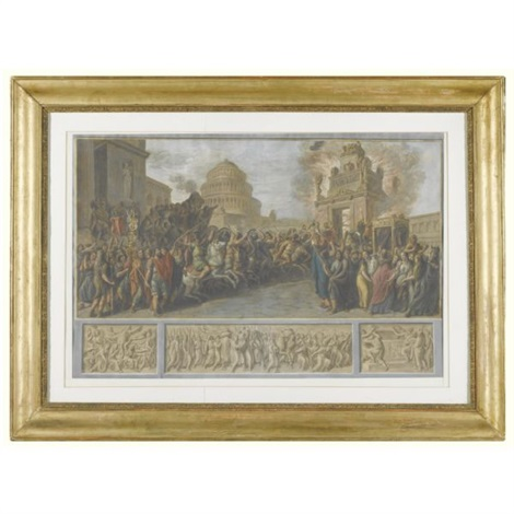 a scene from roman history by luigi ademollo
