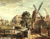 the corn mill at wandsworth, surrey by francis (capt.) grosse
