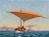 pêcheurs en mer by paul jobert