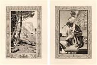 max klinger's radierungen zu apulejus märchen ,amor und psyche, opus va und vb (2 original portfolios) by max klinger