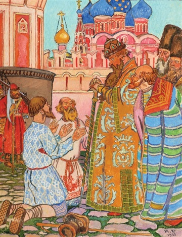 russian folklore illustration by ivan yakovlevich bilibin