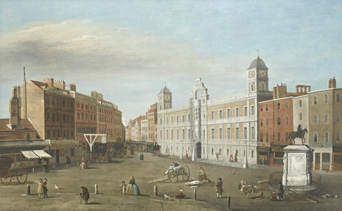 a view of northumberland house by samuel scott