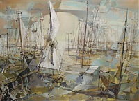 abstract boats by jean theobald jacus