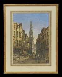 old drury court london and church of st. mary le strand by joseph josiah dodd