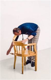 the historie of labour (from one minute sculpture foto) by erwin wurm