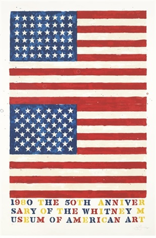 two flags whitney anniversary by jasper johns