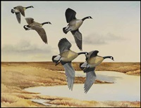 geese in flight by james fenwick lansdowne
