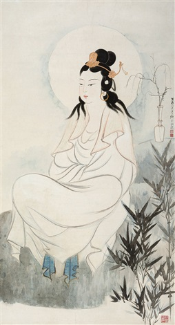 南无观世音菩萨 bodhisattva by zhang daqian