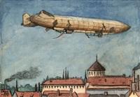 zeppelin en la cartuja by joaquín álvarez cansino