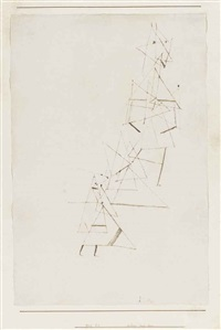 klein und gross (small and large) by paul klee