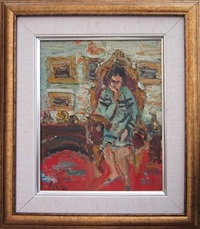woman in an interior by yitzhak frenkel-frenel