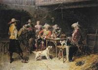 soldados en una venta by franck appert