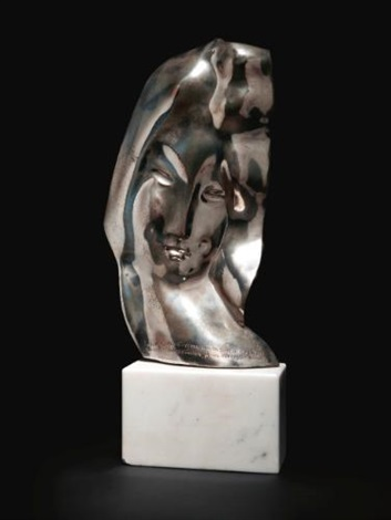 silver mask the past by alexander archipenko