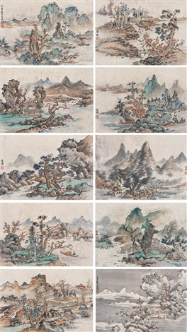 landscape after artist lan ying album w10 works by xu zonghao