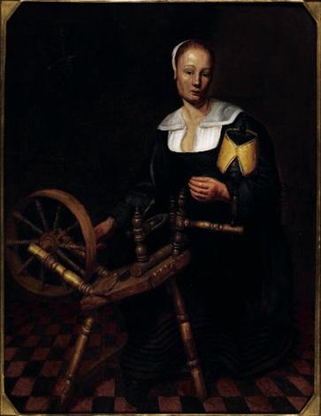 la filatrice by johannes van der aack