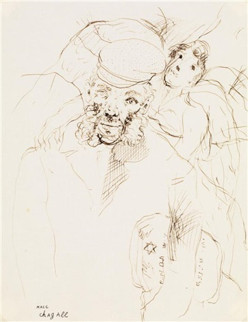 le vieil homme by marc chagall