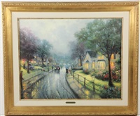 home town memories i by thomas kinkade