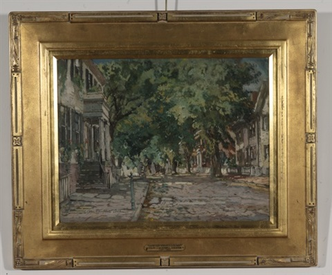 upper main street nantucket by colin campbell cooper