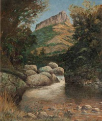 plowman's kop, natal national park, drakensberg by cathcart william methven