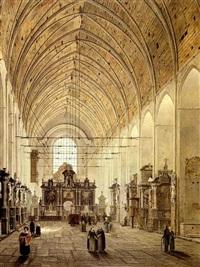 intérieur d'église by angelus de baets