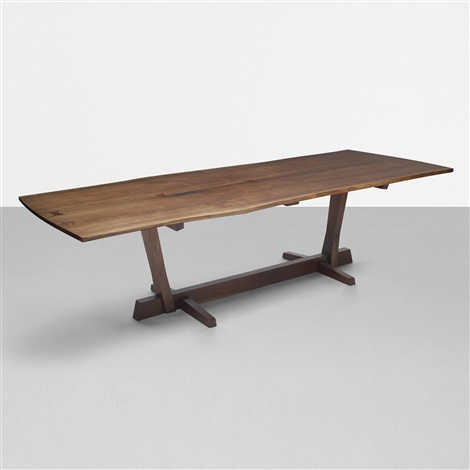 important conoid dining table by george nakashima