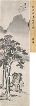 高松远山图 立轴 纸本 by xiang shengmo