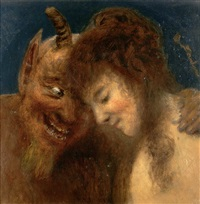 nymphe und satyr by eduard daelen