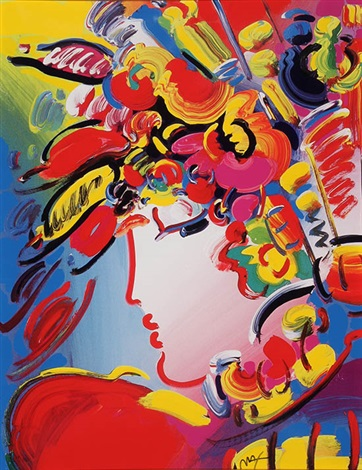 blushing beauty by peter max on artnet. Black Bedroom Furniture Sets. Home Design Ideas