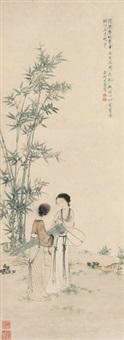 携琴图 by you qiu