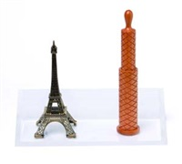 untitled, eiffel tower (+ pepper mill; 2 works) by haim steinbach