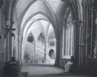 a gothic cloister by josef hoeger