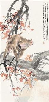 枫叶双猴 by liu bin