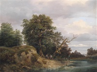 angler am fluss by joseph feid