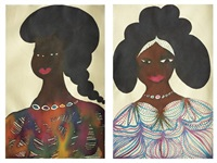 untitled (+ another; 2 works) by chris ofili