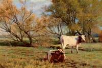 kühe auf der weide by otto weber